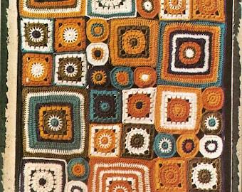 Patchwork Mural Blanket Vintage Crochet Pattern 442