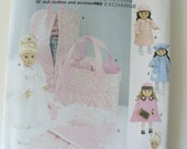 Simplicity 5421 pattern - doll clothes, tote, doll sized garment bag and sleeping bag