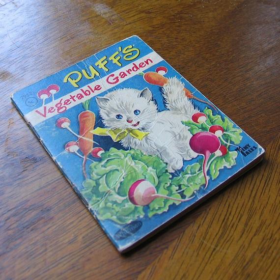 Vintage Children's Book - Puff's Vegetable Garden