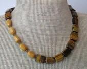 Gemstone Earthtone Fall Fashion Holiday Necklace One of a Kind