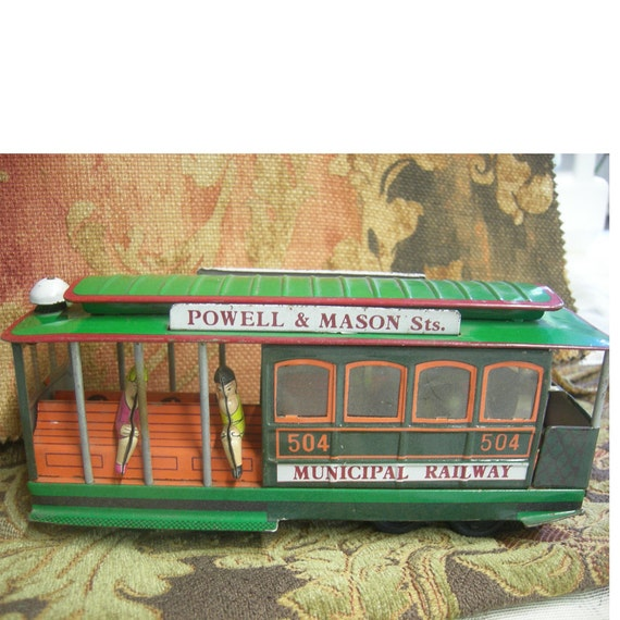 San Francisco  Cable Car Toy - Collectable 1960's Toy