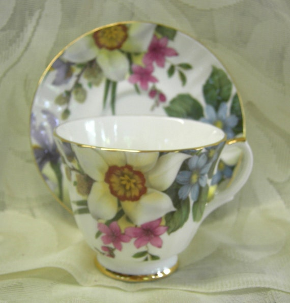 Vintage English Bone China Tea Cup and Saucer - Duchess China  Hold for Heather