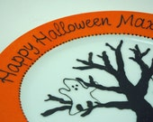 Happy Halloween - Personalized hand painted plate