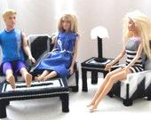 Fashion Doll Living Room Set - Zebra Print