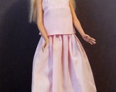 Fashion Doll Tank Top and Long Skirt - Pale Pink