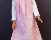 Fashion Doll Jumper and Shirt - Pink Print with White Shirt
