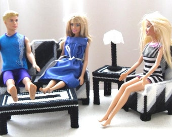 Fashion Doll Living Room Set - Zebra Print
