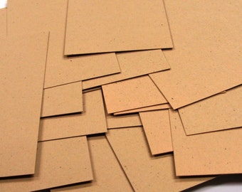 20 Mini Flat Cards in KRAFT . Blank Place Cards, Business Cards or Tags . 2 x 3.5