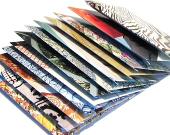 12 Upcycled Mini Magazine Envelopes and Note Cards, Mini Envelopes, Recycled Envelopes . Mystery Magazine