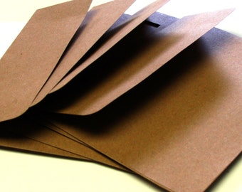 A7 Everday Kraft Envelopes with Square Flap (Qty. 25) . 5x7 inches