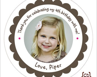 Custom Personalized Photo Stickers or Tags