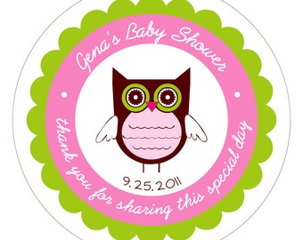 Cutie Owl . Personalized Stickers, Labels or Tags