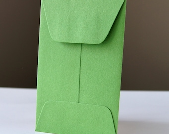 10 Open End Baby Envelopes in CLOVER (green) .  2.25 x 3.5