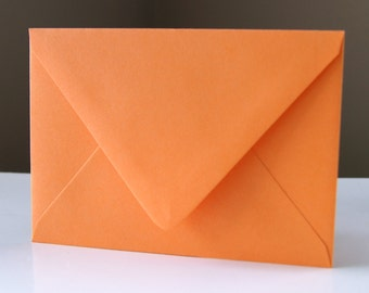 "10 Poppy (orange) RSVP Envelopes . 4Bar Envelopes . 3.625"" x 5.125"""