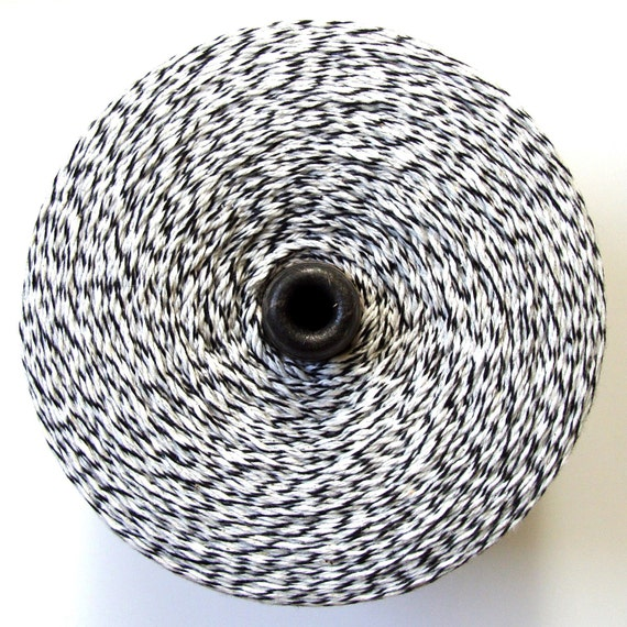 Black and White Bakers Twine . 10 yards