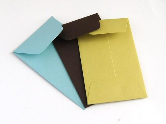 Pick Your Own Mini Envelopes . 30 Open End Baby Envelopes (2.25 x 3.5) . Choice of 27 Colors