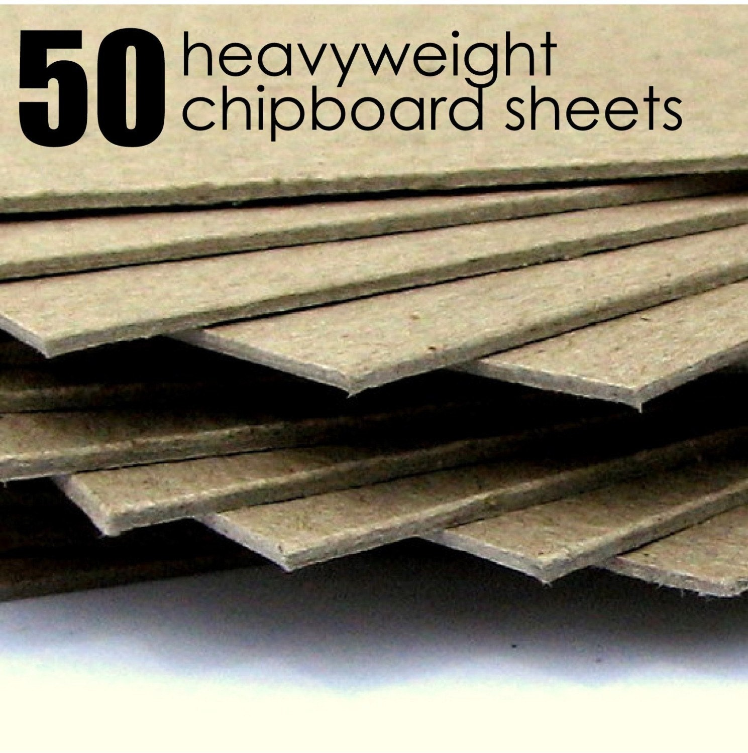 Items Similar To 50 Heavyweight Recycled Chipboard Sheets