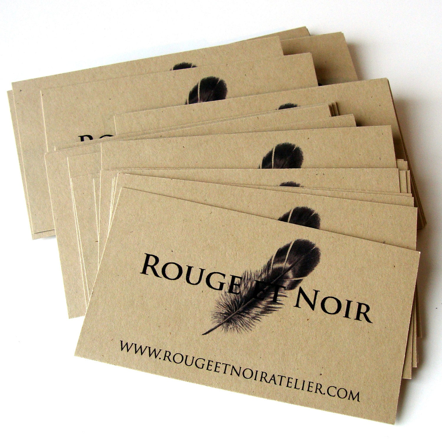 50 Custom KRAFT Cardstock Business Cards Design and by