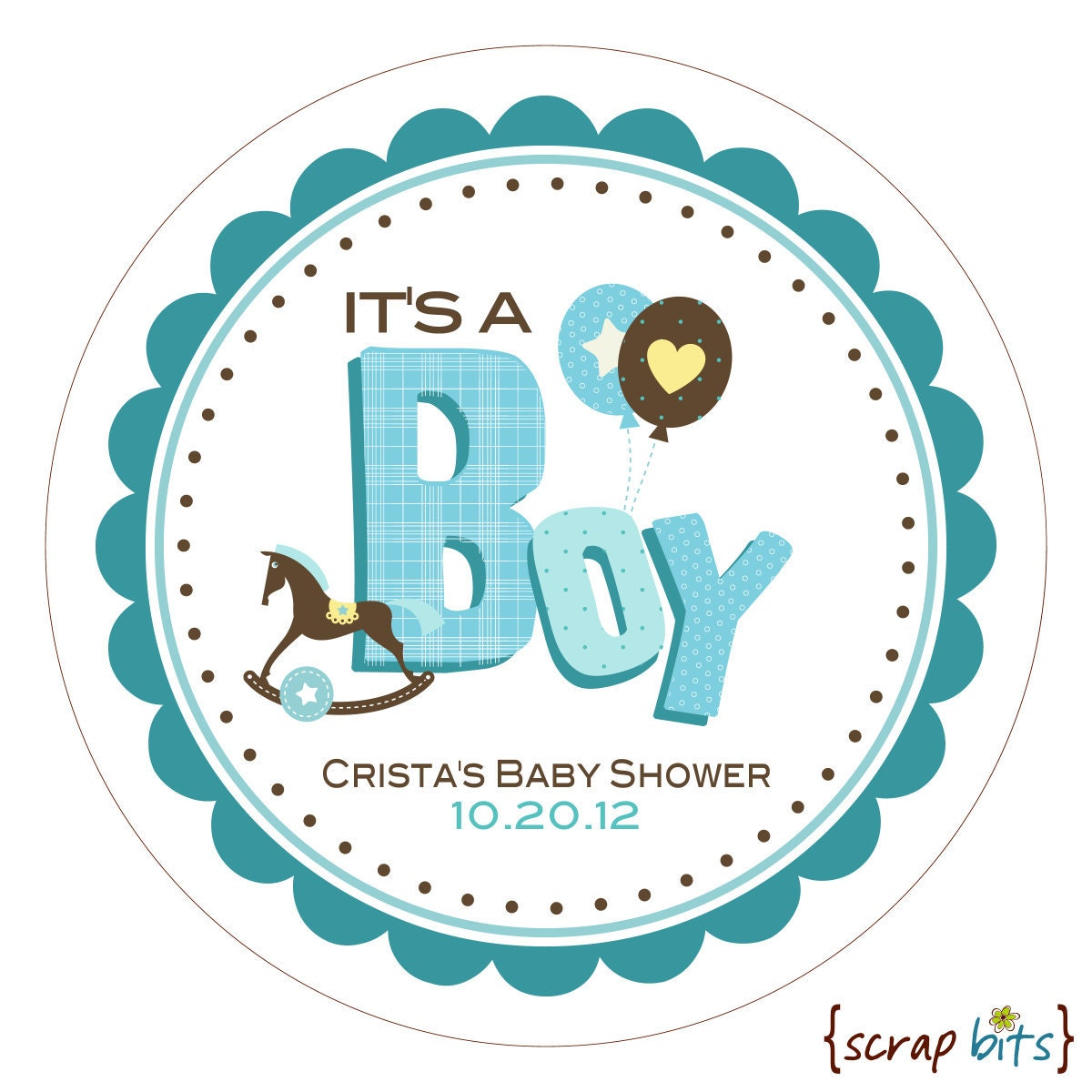 it 39 s a boy scrappy personalized baby shower stickers