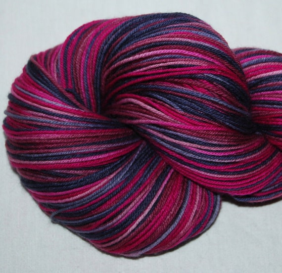 PICASSO Superwashed   Hand dyed BFL/Nylon Fingering sock yarn approx 425 metres per100g