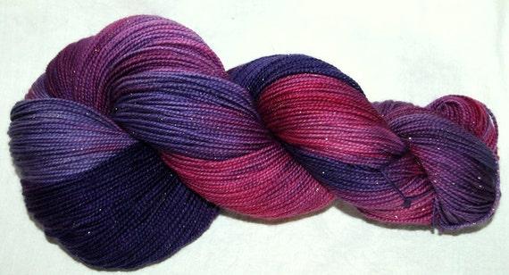 Reserved for jo33  SPARKLY GOLD Hand dyed fingering yarn, Superwash Merino, nylon and Stellina 100g