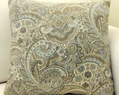 Spring Paisley Pillow-Spa Blue