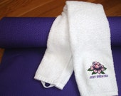 Towel Yoga Lotus Sport Gym Terry Cloth Embroidered
