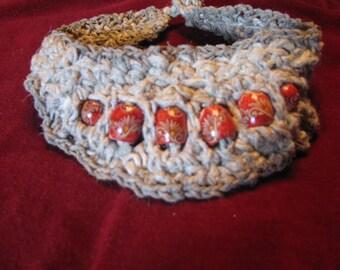 Crocheted Natural Hemp Neck Piece
