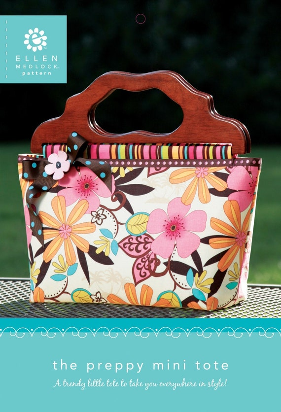 The Preppy Mini Tote Bag Pattern - Purse Sewing Pattern (#108)