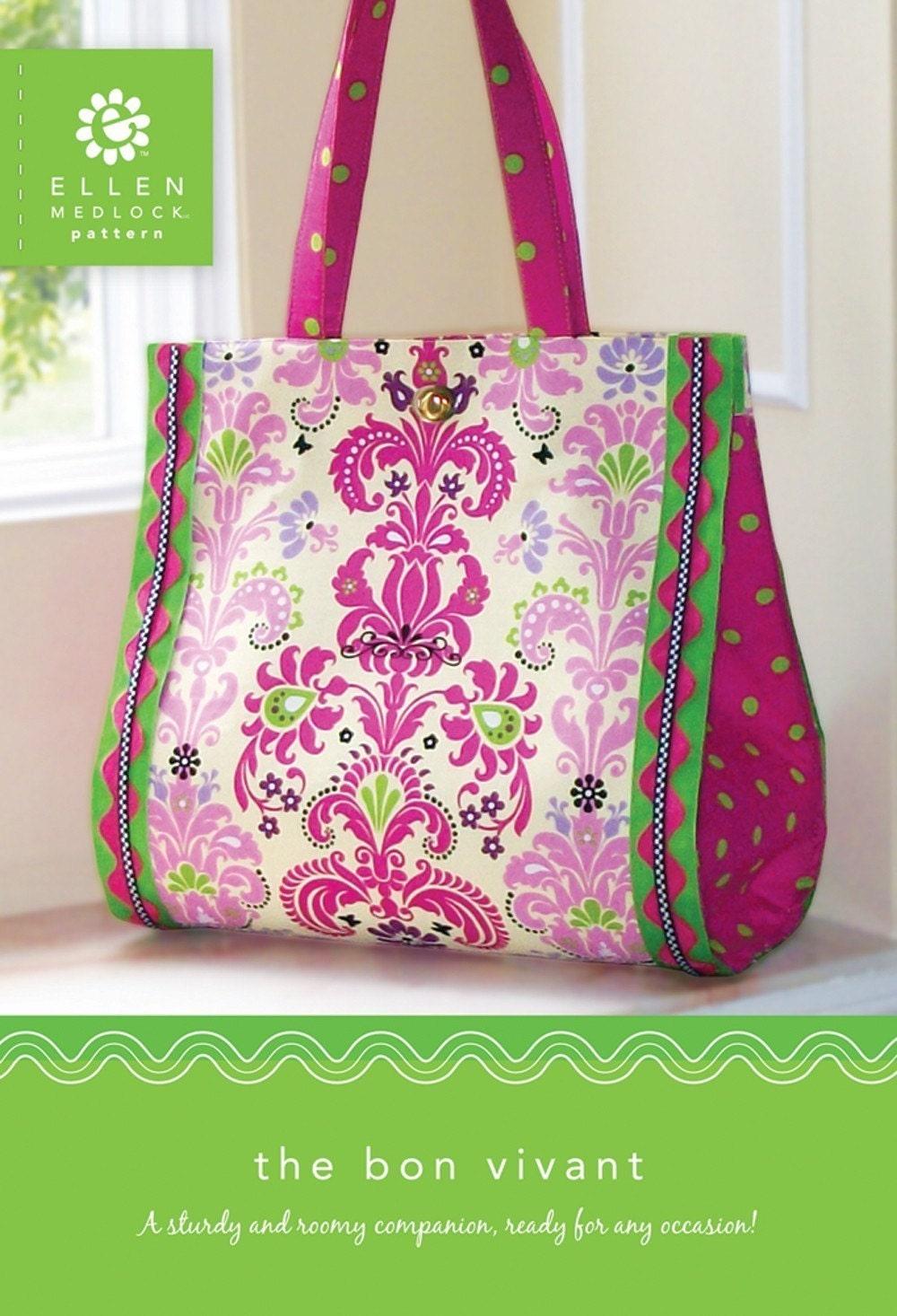 PDF Download of The Bon Vivant Bag Sewing Pattern 114X
