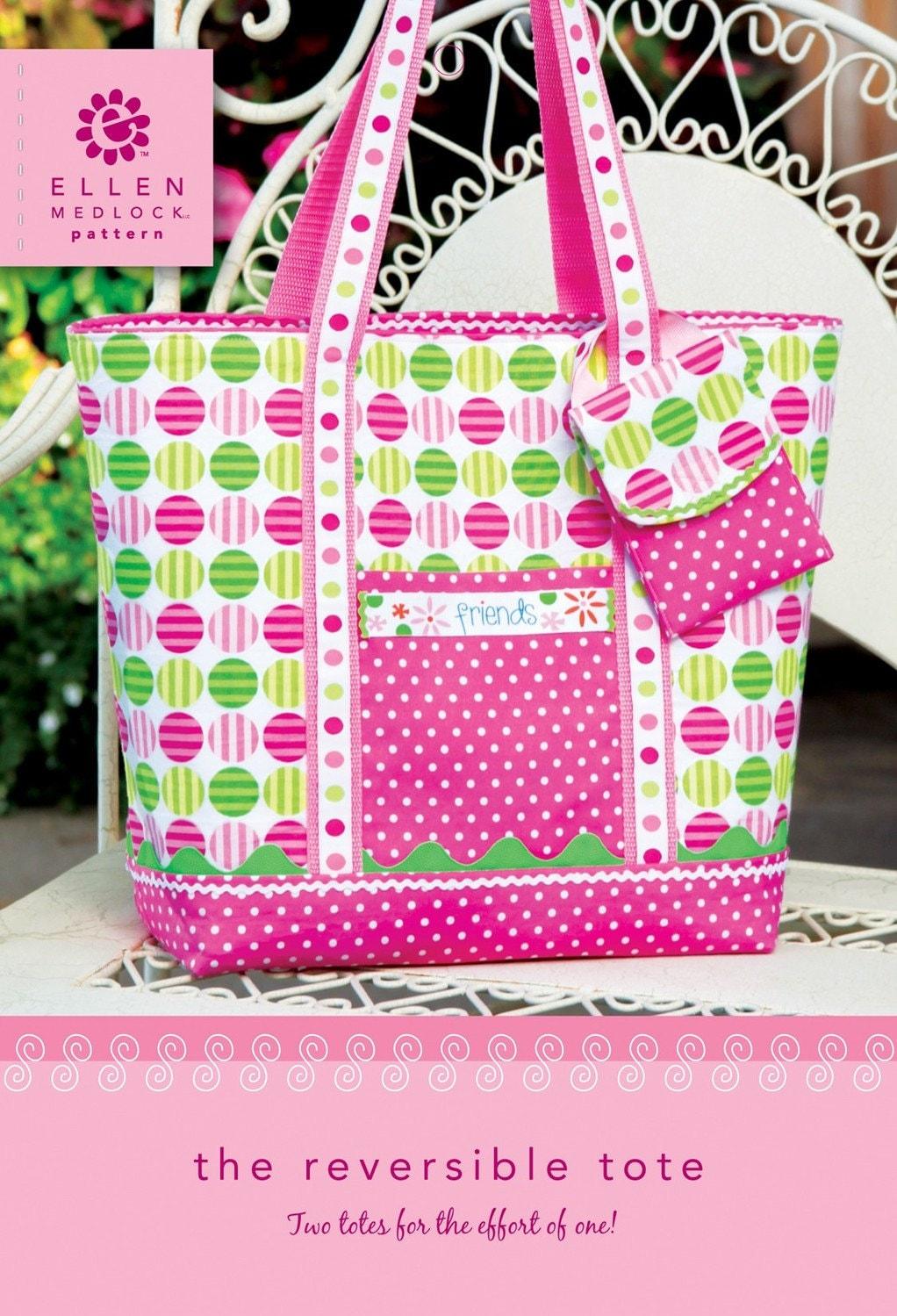 The Reversible Tote Bag Purse DIY Sewing Pattern 104