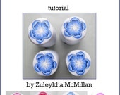 Flower with curling petals polymer clay cane tutorial