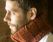 Unisex Wool Ribbed Neckwarmer - Circle Scarf - Cowl - Choose your COLOR