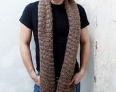 The Hamilton - Wool Herringbone Extra Long Scarf - Made to Order
