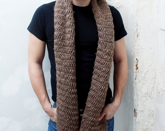 The Hamilton - Wool Herringbone Extra Long Scarf - Made to Order