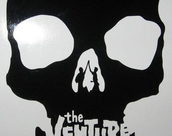 Venture Brothers skull rub on vinyl decal sticker cartoon Bros