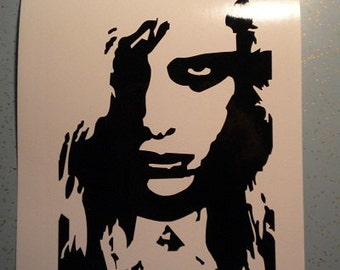 Zombie Girl Night of Living Dead vinyl decal sticker horror