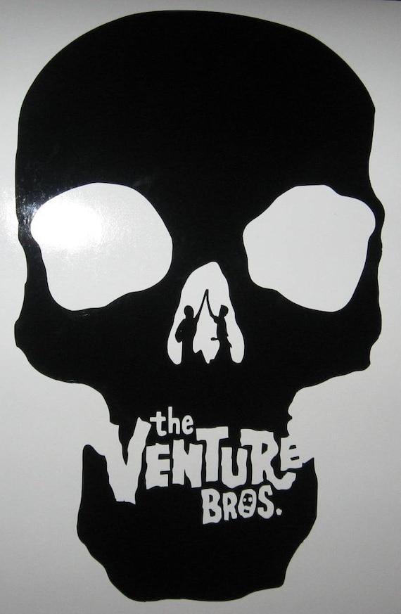 Venture Brothers skull rub on vinyl decal sticker cartoon Bros
