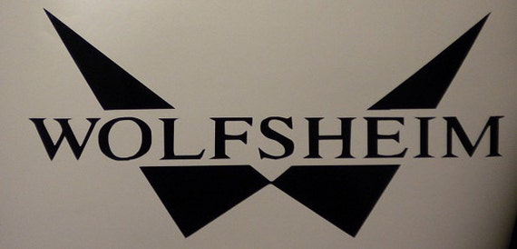 Wolfsheim  vinyl industrial decal sticker Macbook synthpop darkwave
