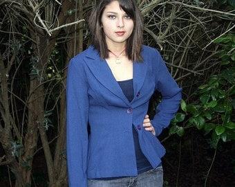 Vintage blue blazer jacket, size small medium