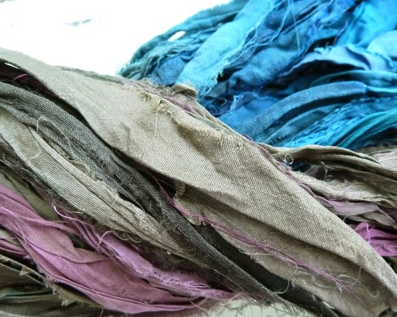 atlantic recycled silk sari ribbon