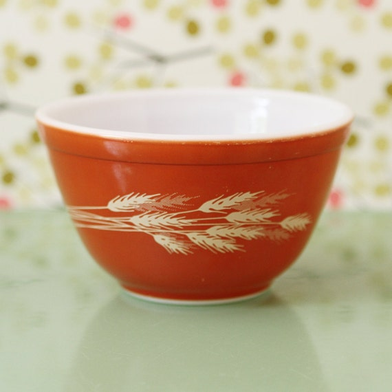 Pyrex Mixing Bowl, Autumn Harvest , Orange, Brown