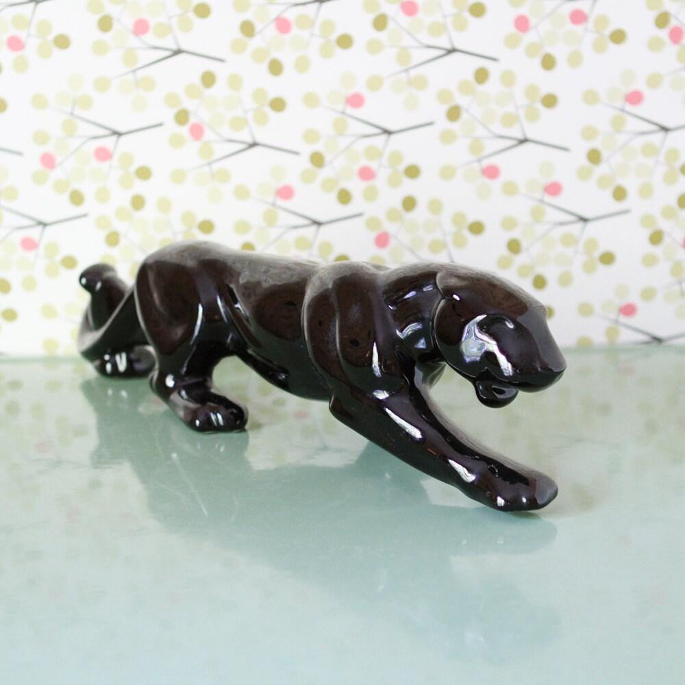 Vintage Black Panther Statue By Bettyskitschen On Etsy