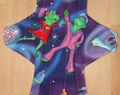 Disco Frogs 10 inch Reusable Menstrual Pad