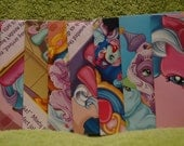 My LIttle Pony envelopes handmade from recycled paper