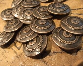 PIRATE SALE Ornate Bronze Metal Pirate Buttons