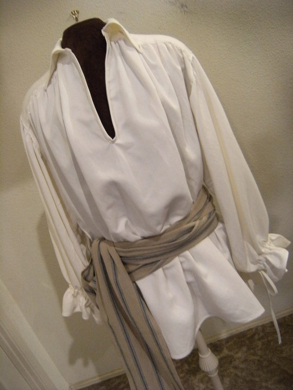 Womens White Silk Shirt