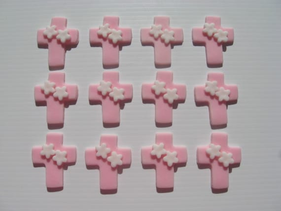12 Cross Cupcake Toppers with priority mail upgrade for Elizabeth