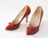 Roman Holiday 1950s Red High Heels