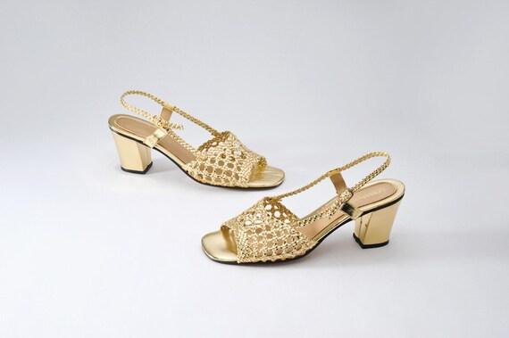 Vintage Gold Sandals - Deadstock